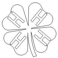 graphic about Printable 4 H Clover titled 4h one 001