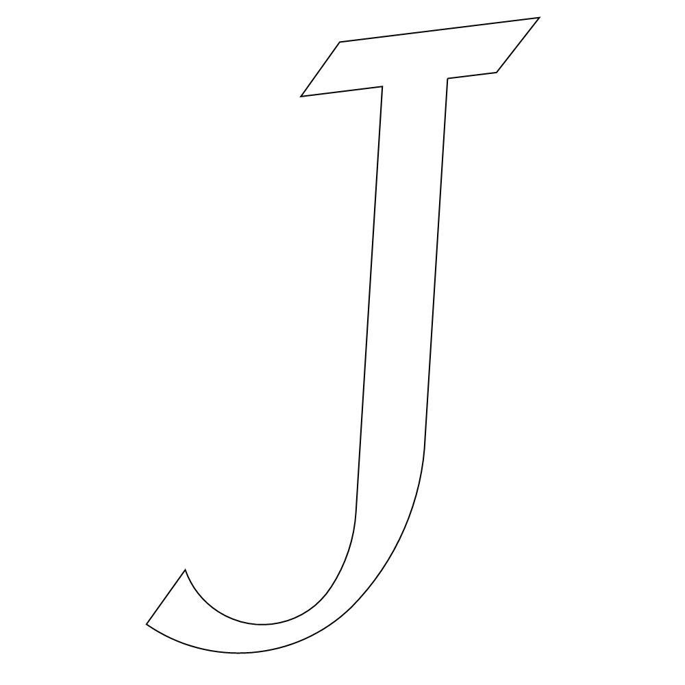 Calligraphy Font Capital J