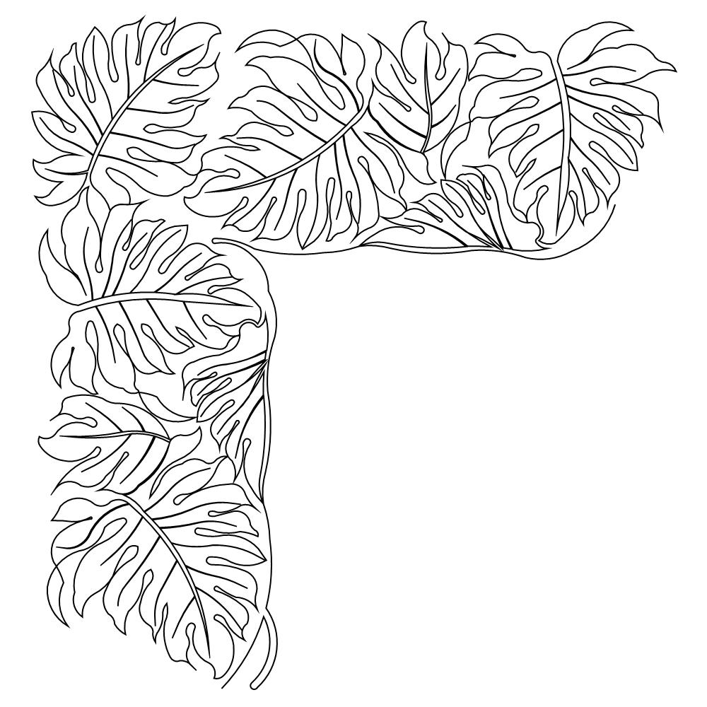 Rainforest Leaves Template