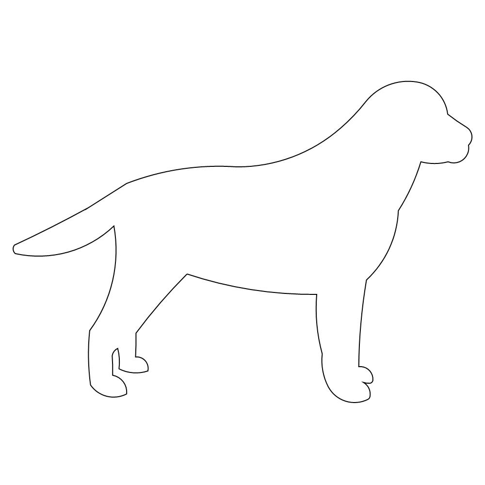 Dog Outline Picture