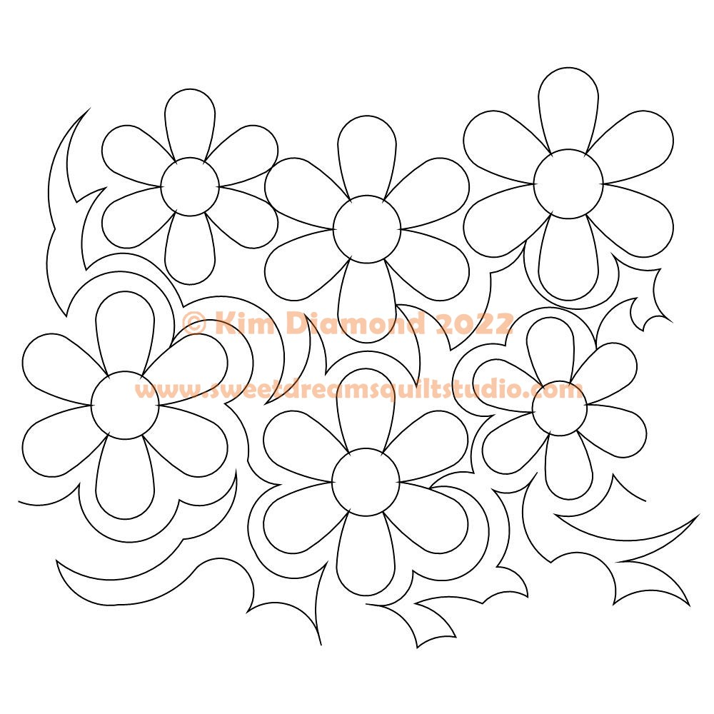 hannahs flower pano 002 Digital Pattern   Sweet Dreams Quilt Studio