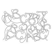 abc dotted font pano 001