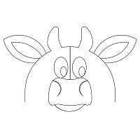 animal clamshell cow 001