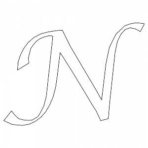 Calligraphy Font Capital N