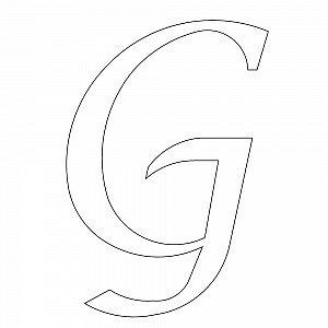 calligraphy font capital g